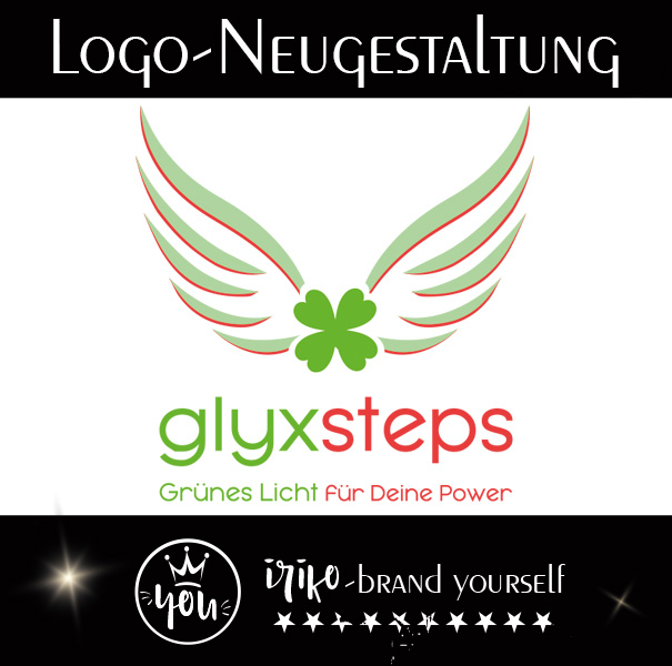 Logoentwicklung glyxsteps gestaltet von iriko brand-yourself