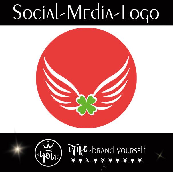 Logoentwicklung Social-Media-Logo gestaltet von iriko brand-yourself