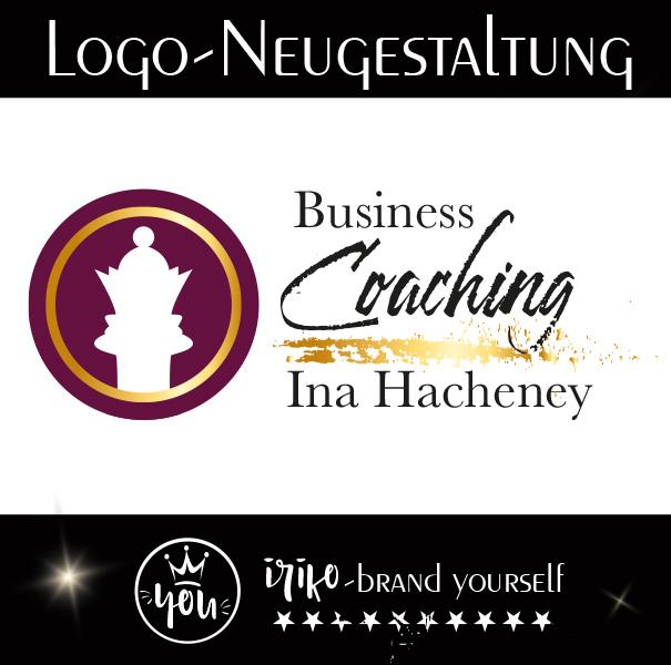 Logoentwicklung Ina Hacheney gesteltet von iriko brand-yourself