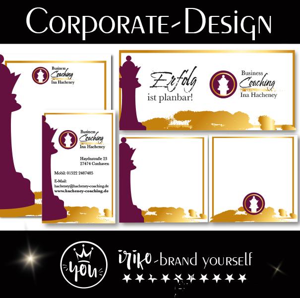 Corporate Design Ina Hacheney gesteltet von iriko brand-yourself