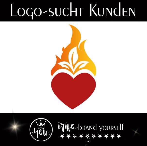 Herz in Flammen Logo
